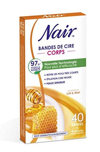 Nair Bandes de cire froides corps lait et miel - Les 40...