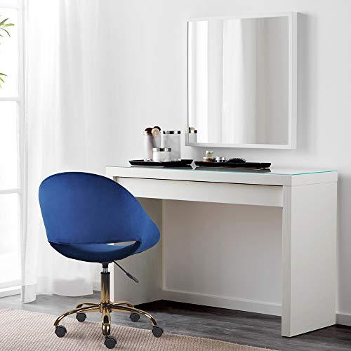 GIA Mid-Back Adjustable Swivel Vanity Chair, Velvet Blue