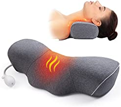 Neck Pillows for Pain Relief Sleeping, Inflatable Heated Cervical Neck Traction Pillow with Graphene Heating, Memory Foam Neck Support Pillow Height and Temperature Adjustable