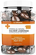 All Natural Silver Lozenges - Soothing Honey with Lemon: The Perfect Lozenge for Oral Health, Daily Supplementation Contai...