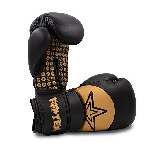 TopTen Boxhandschuhe Wrist Star Schwarz/Gold 12oz