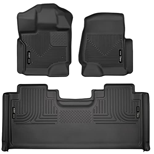 Husky Liners 94051 Fits 2015-20 Ford F-150 SuperCab Weatherbeater Front & 2nd...