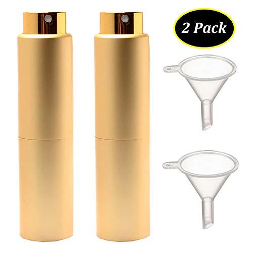 Vaporisateur Parfum 2 Pack 20 ml Vide voyage Verre Atomiseur Flacon Parfum pour Homme & Femme avec Entonnoir et Pipette