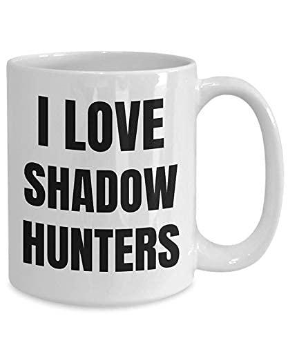 Regalo del amante del amor de los cazadores de sombras I taza de cazador de sombras para los cazadores de sombras taza cazador de sombras regalo idea divertida del cazador de la sombra taza de té Gho