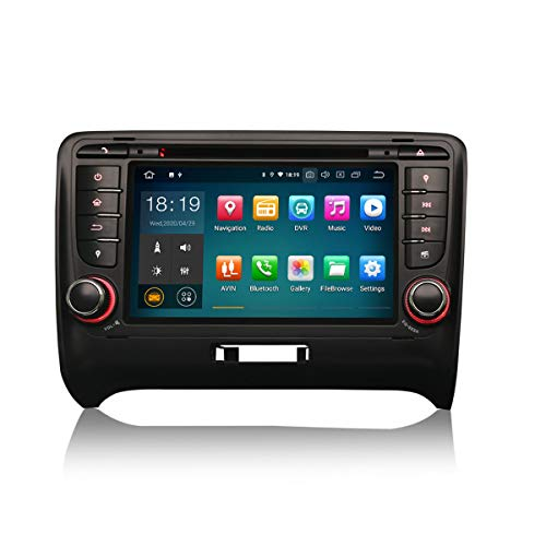 ERISIN 7 Pulgadas Android 10.0 Estéreo de Automóvil para Audi TT MK2 Soporte GPS Sat Nav Carplay Android Auto Bluetooth A2DP WiFi 4G Dab + RDS Enlace Espejo TPMS SWC 2GB RAM + 16GB ROM