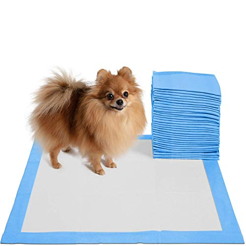 Puppy Pads Dog Pee Pad for Potty Training Dogs & Cats - 30-Count Large 22 x 22 Doggy Pet Supplies for Puppies All Absorb-ent Disposable Doggie in-Doors Piddle Absorbent Leak-Proof Urine Holder