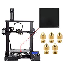 Ender-3X Version: Add a tempered glass on the heated bed, which makes models are easier removed. It also makes the hot bed more flat. Easy and Qucik Assembly: Ender 3X comes with several assembled parts, you only need about 2 hours to assemble 20 nut...