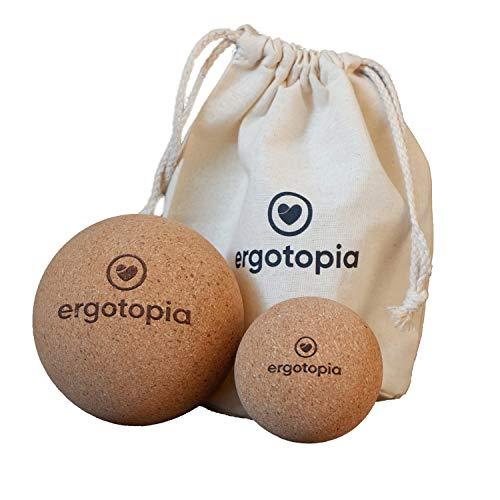 Ergotopia Faszienball aus antibakteriellem & langlebigem Kork, umweltfreundlicher Massageball zur gezielten Selbstmassage von Triggerpunkten & Verspannungen