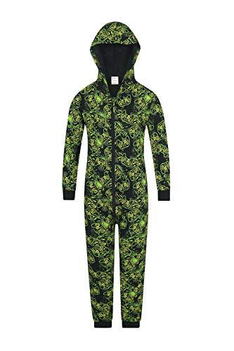 PyjamaFactory – Grenouillère motif jeu vidéo, vert - Noir - 15-16 ans