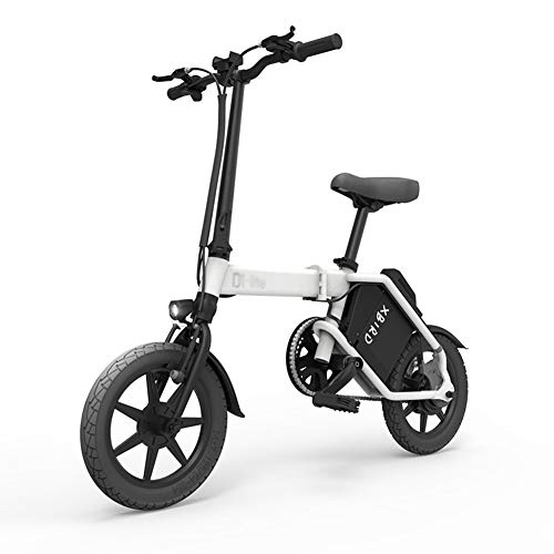 ABYYLH Bicicleta Electrica Plegable Paseo Fat E-Bike Unisex Triciclo Portátil,White