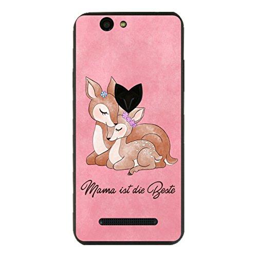 Disagu SF-sdi-5170_1002 Design Folie für Wileyfox Spark Rückseite - Motiv Mama ist die Beste - rosa