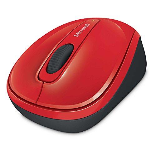 Microsoft Wireless Mobile Mouse 3500 (Maus, rot, kabellos, für Rechts- und Linkshänder geeignet)