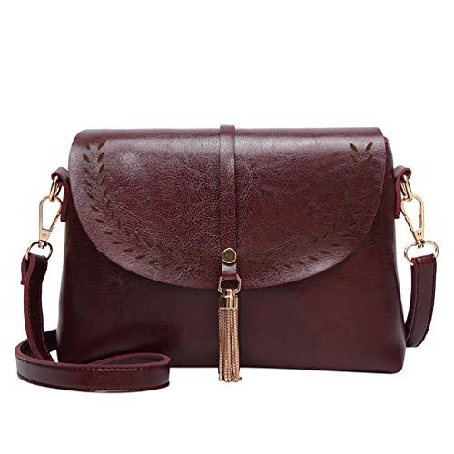 WanYangg Damen Handtasche Shell Pu Leder Klein Damenhandtasche Schultertasche Umhängetasche Elegante Tasche Kaffee
