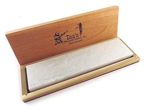 Genuine Arkansas Hard (Fine) Knife Sharpening Bench Stone Whetstone 8' x 2' x 1/2' in Wood Box...