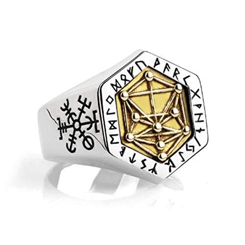 Nordic Mythology Viking Rune Ring S925 Pure Silber Nordic Wikinger Baum Lebens Ring FüR Mann Hip Hop PersöNlichkeit Dominierende Index Finger Mann Ring-default