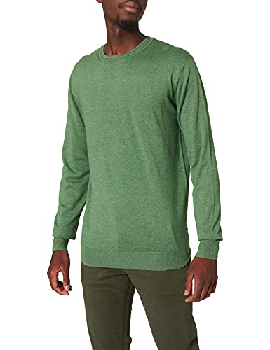 Scotch & Soda Classic Ecovero Viscose Crewneck Pull Suéter, Power Green Melange 4293, S para Hombre