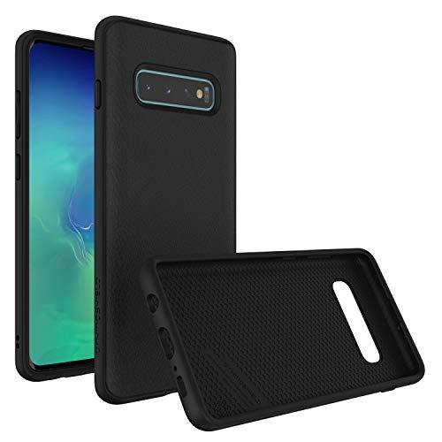 RhinoShield Funda Compatible con Samsung [Galaxy S10+ (Plus)] | SolidSuit - Funda Protectora de Diseño Compacto y Absorbente de Impactos de hasta 3.5 M con Acabado Premium Mate - Cuero