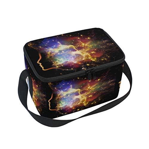 Ahomy Lunch Box Nebula Space Star Sky Sac à déjeuner Isotherme Sac fourre-Tout Isotherme pour l'extérieur, l'école, Le Bureau, Les boîtes à déjeuner Organisateur pour Enfants et Adultes