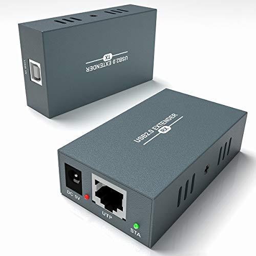 Extensor USB 2.0 con 4 Puertos, Transmisión de 50m/165 pies