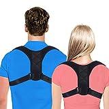 Posture Corrector for Women and Men,KingFast Adjustable Clavicle Brace Perfect for Shoulder Support, Upper Back & Neck Pain Relief,Back Posture Brace (M-1PCS)