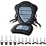 Thickened Padded Kayak Seat Extra Thick Padded Sit-On-Top Canoe Seat Cushioned - Deluxe Fishing Boat...