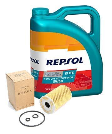 Repsol Duo motorolie Elite 50400 50700 5W-30 5 liter oliefilter Original TDi, 03L115562