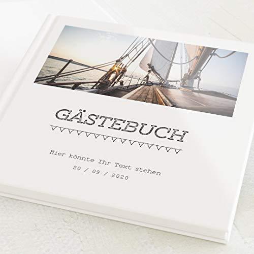 sendmoments Gästebuch zum Auslegen & Eintragen, Retro Druckbuchstaben, individuell mit Text und...