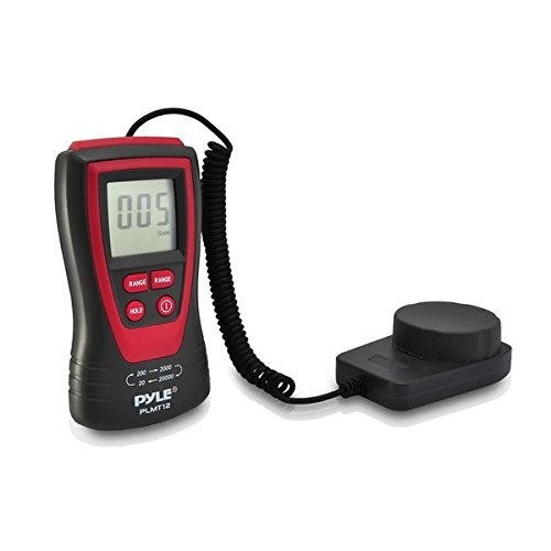 Pyle PLMT12 Handheld Lux Light Meter Photometer with 20000 Lux Range, 2X Per Second Sampling and Digital Display