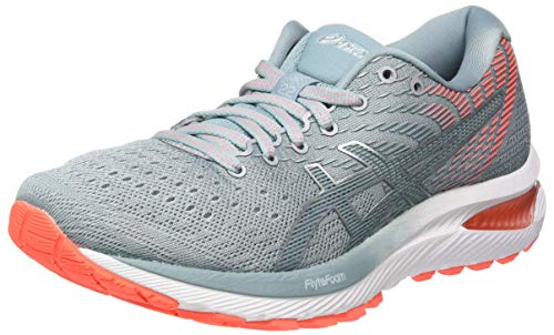 ASICS Womens Gel-Cumulus 22 Running Shoe, Piedmont Grey/Light Steel, 41.5 EU