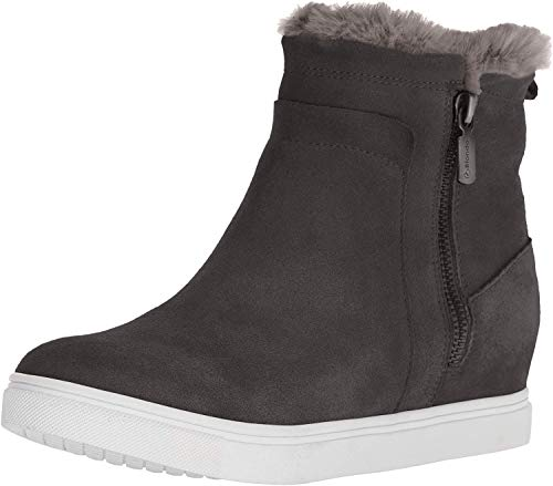 Blondo Women's Glade Sneaker, Dark Grey Suede, 11 M US