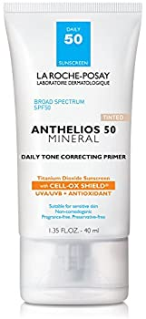 La Roche-Posay Anthelios Mineral Daily Tone Correcting Tinted Face Primer with Broad Spectrum SPF 50 Mineral Sunscreen with Titanium Dioxide 1.35 Fl oz