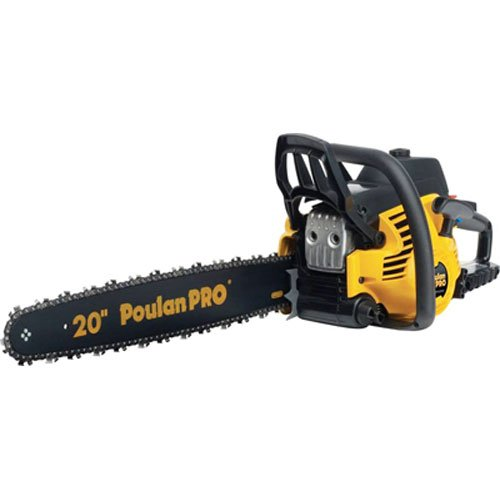 Poulan Pro PP5020AV 20-Inch 50cc 2 Stroke Gas Powered Chain Saw With Carrying Case