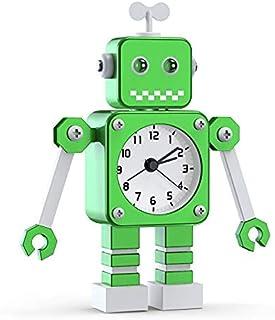 Réveil pour Enfants garçons, réveil Robot pour Enfants réveil analogique sans coche réveil Silencieux pour garçons Filles ...