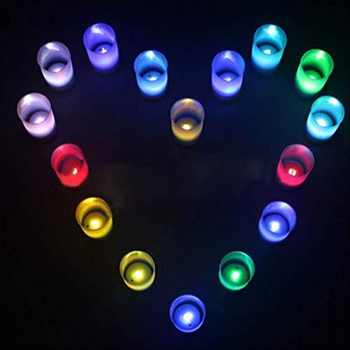 LED Teelichter Kerzenlicht 6pcs Multi Color Led Licht romantische Flammenlose Kerze Tee Flicker Lampe Stand kann ausgeblasen werden bunte Kerze Licht