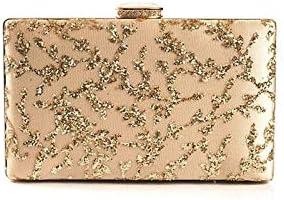 A-hyt Perfect Fashion Women Evening Bags Clutch Luxury Sequins Even Bag Wedding Modest Shoulder Bag Women Party Prom Handbag with Chain Classic Design (Color : Beige, Size : A)