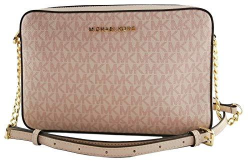 Michael Kors PVC-Monogramm-Umhängetasche, kleine Handtasche, Pink - Rosa - Ballet Pink - Größe: Small