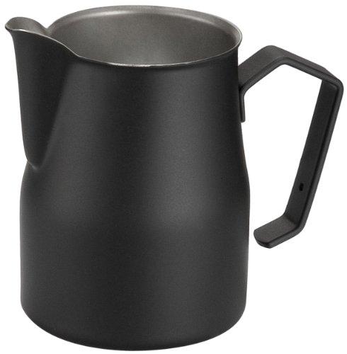 Motta Stainless Steel Professional Milk Pitcher/Jugs 17-Floz Black