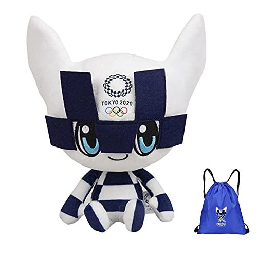 Mascota de los Juegos Olímpicos de Tokio 2021 25/40 cm Miraitowa Someity muñecos de peluche de anime juguetes de peluche tema olímpico de Japón modelo de anime decoración muñeco de peluche de juguete