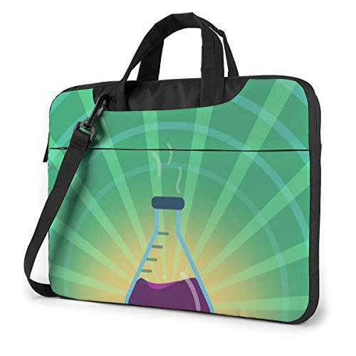 Bolso de Hombro para computadora portátil Estuche para computadora portátil, Funda de Laboratorio para Laboratorio de frascos de química, Bolsa Protectora de maletín de Negocios