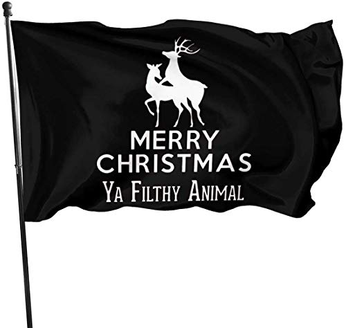 Yuanmeiju Merry Christmas Ya Filthy Animal Outdoor Gartendekoration Flagge 35 (90cm150cm)