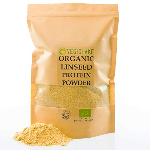 Organic Vegan Linseed - Flax Seed Protein Powder 30g High Protein BCAA Aminos (250g)