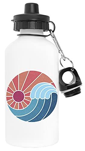 sol Y Mar Blanco Botella de Agua Aluminio Deportes Viaje Exterior White Water Bottle Aluminium Sports Travel Outdoor
