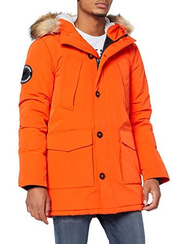 Superdry Mens Everest Parka, Orange, XX-Large