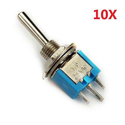 MJJEsports Wendao Smts-102 On/On Ac 125V 6A 2-pins Mini Toggle schakelaar A weegschaal 10 stuks