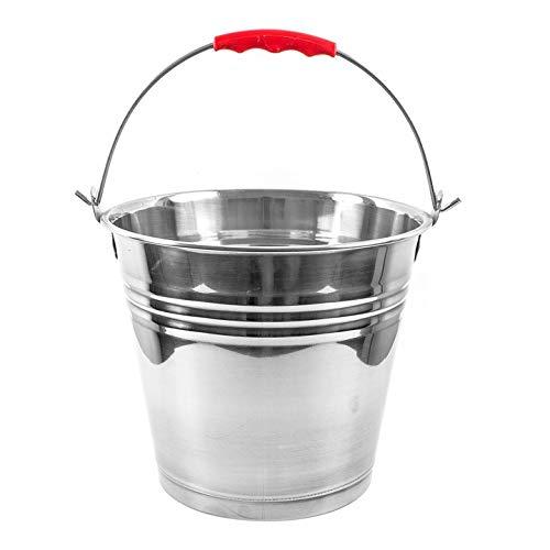 Solide Edelstahleimer Metalleimer Kücheneimer Wassereimer Veschiedene Große 5L,7L,10L,12L,16L (12L)