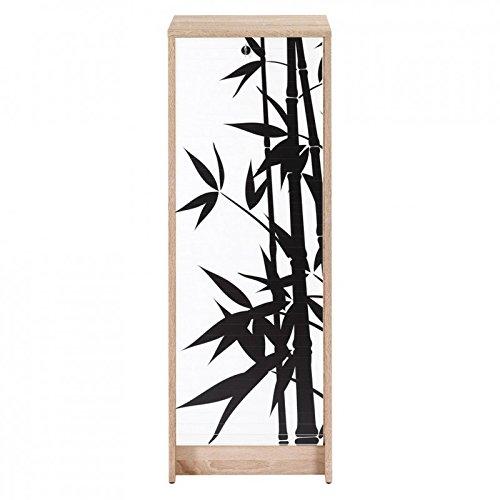 SIMMOB Boost Classeur à Rideau Chêne Naturel Hauteur 104 cm-Coloris-Bambous 912, 38,5x38x103,8 cm