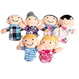 Vektenxi 6 Teile/Satz Baby Kinder Familie Fingerpuppen Pädagogisches Geschichtenspiel Handspielzeug Hohe Qualität