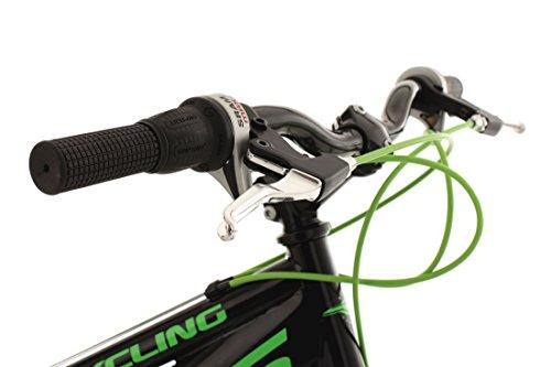 "KS Cycling Kinder Jugendfahrrad Mountainbike Fully 24"" Bliss schwarz-grün RH 38 cm Fahrrad, 24 - 5"