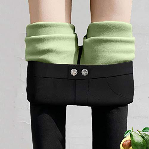Leggings más Cachemir Leggings Gruesos Cálidos para Mujer De Invierno De Cintura Alta Push Up Plus Leggings De Terciopelo para Mujer Leggings Negros De Compresión Súper E