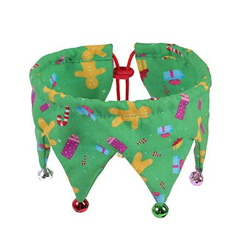Egurs huisdier Kerstmis kostuum decoratieve accessoires instelbare sjaal kattenhalsband hondenhalsband halssieraad met klok